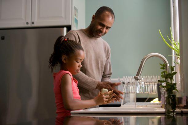 family handwashing and coronavirus